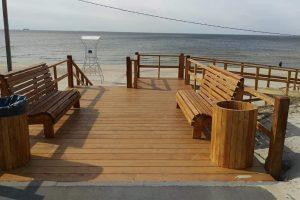Į paplūdimį ves nauji laiptai ir pandusas