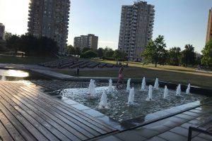 Miesto fontanai vaikams – puiki maudynių vieta