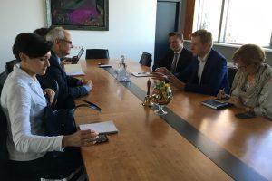 Vilniaus meras su Lenkijos ambasadoriumi aptarė lenkų mokyklų klausimus