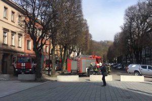 Netikras pavojus: ugniagesiai į Laisvės alėją iškviesti dėl dulkių
