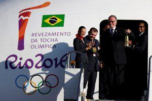 Olimpinė ugnis atkeliavo į Braziliją