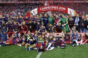 """Barcelona"" 28 kartą iškovojo Ispanijos futbolo taurę"