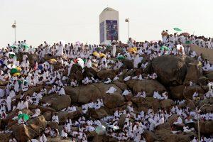 Hadžo apeigoms musulmonai susirinko ant Arafato kalno ir jo apylinkėse