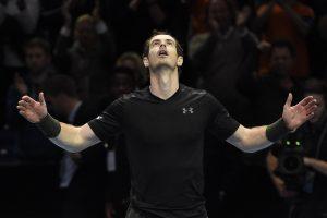 23 pergalė iš eilės: A. Murray'us laimėjo įspūdingą trilerį Londone
