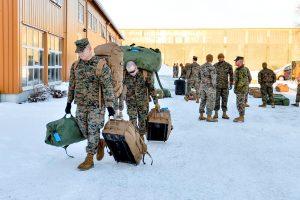 Norvegijoje išsilaipino 300 JAV jūrų pėstininkų
