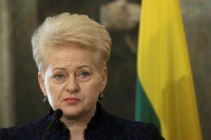 D. Grybauskaitė: jau turime kalbėti apie karinį Šengeną