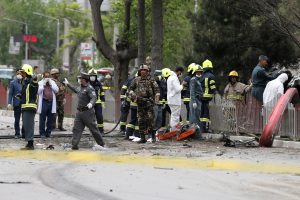 Kabule šalia užsienio pajėgų kolonos sprogo bomba, yra aukų