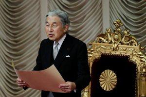 Japonijos vyriausybė leido imperatoriui atsisakyti sosto