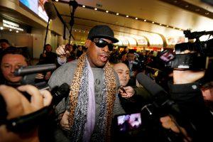 Buvusi NBA žvaigždė D. Rodmanas vėl vyksta į Šiaurės Korėją