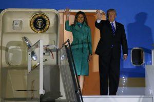D. Trumpas nusileido Lenkijoje, taip pradėdamas antrąjį savo vizitą Europoje