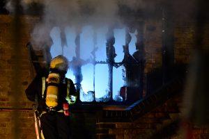 Londone – dar vienas gaisras: supleškėjo populiari turgavietė