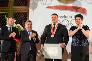 M. Mizgaičiui įteiktas olimpinis medalis