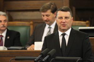 Latvijos Seimas naujuoju šalies prezidentu išrinko R. Vėjuonį