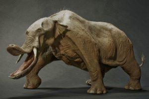"""Platibelodonai: priešistoriniai keturilčiai """"kastuvasnukiai"""" drambliai"""