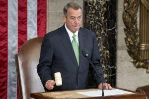 JAV Atstovų Rūmų pirmininkas Boehneris atsistatydins spalį