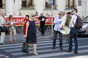 Minia piketuotojų reiškė nepasitenkinimą Atgimimo aikštės projektu