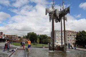 Gimtadienį švenčiančiam miestui – rekonstruotas Pempininkų fontanas