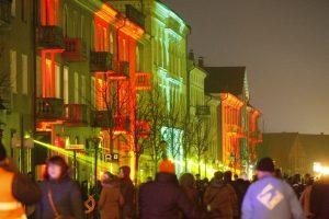 Šviesų festivalis sutraukė minias klaipėdiečių