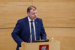 Dėl ištrinto įrašo S. Skvernelis vėl kviečiamas aiškintis į Seimą