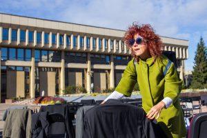Prie Seimo protesto akciją surengė aktoriai: mes – ne tuščia  vieta