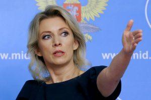 Rusijos URM atstovė: Rusijos ir Britanijos diplomatijos vadovų susitikimo nebuvo
