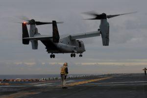 Prie Australijos krantų nukrito JAV karinis orlaivis