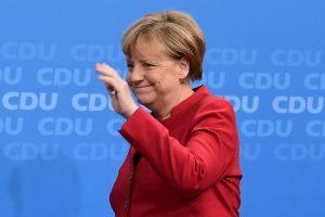 A. Merkel prieš sunkias koalicijos derybas vėl dalyvauja rinkimų mūšyje