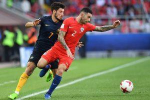 Čilės ir Australijos futbolininkų kova pasibaigė lygiosiomis