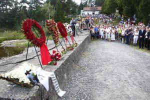 Norvegija mini penktąsias kruvino A. B. Breiviko išpuolio metines