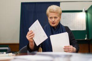 Prezidentė – už Seimo rinkimų perkėlimą į pavasarį