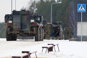 Lietuvos keliuose – vokiečių karinė technika