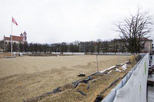 Lukiškių aikštės rekonstrukcijai trūksta milijono eurų