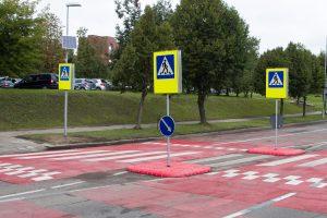 Vilniuje daugės iškiliųjų pėsčiųjų perėjų