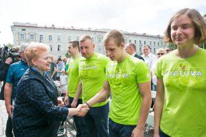 Prezidentė – už olimpiečių ir parolimpiečių premijų suvienodinimą