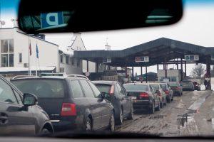 Lietuviams pailgėjo kelionė automobiliu į Rusiją