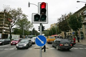 Visame Vilniuje buvo išsijungę šviesoforai