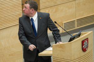 Svarstys siūlymą teistiems asmenims riboti galimybę kandidatuoti į Seimą