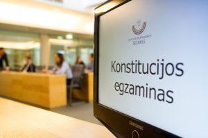 Rengiamas antrasis Konstitucijos egzamino etapas