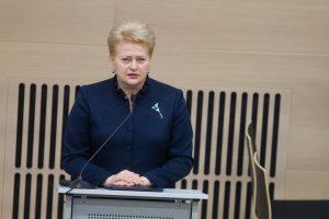 D. Grybauskaitė: Gegužės 3-iosios Konstitucija įpareigoja ginti bendras vertybes