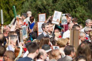Į Antakalnio kapines paminėti karo pabaigos susirinko didžiulė minia