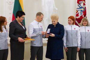 D. Grybauskaitė išvyksta į olimpiadą Pietų Korėjoje