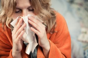 Sergamumas gripu ir peršalimo ligomis mažėja
