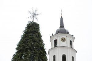 Sostinė jau ruošiasi Kalėdoms – puošiama didžiausia šalyje eglė