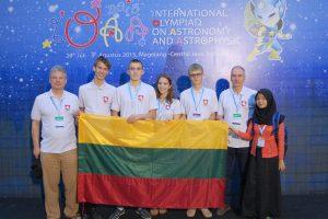 Astrofizikos ir astronomijos olimpiadoje Indonezijoje pelnytas sidabro medalis