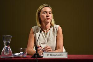 F. Mogherini pirmą kartą apsilankys Rusijoje