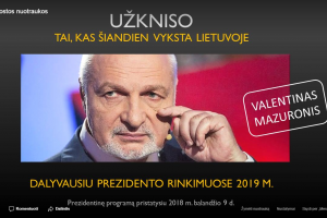 V. Mazuronis eis į prezidentus: užkniso, kas vyksta Lietuvoje