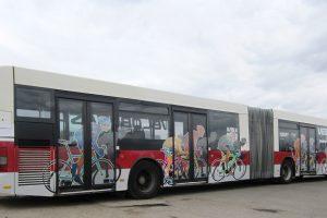 Sostinės dviratininkams į pagalbą skuba autobusai