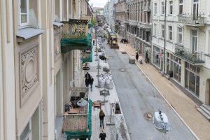 Vilniaus gatvė pasitiko vasarą: darbų pabaigos nematyti?