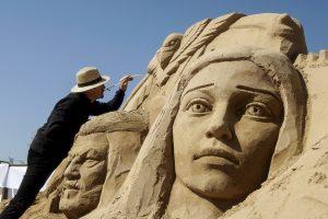 Lietuvių svečiuose laukia 10-asis smėlio skulptūrų festivalis Jelgavoje