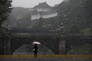 Tokijuje pirmą kartą per 54 metus lapkritį iškrito sniegas